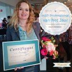 Esther Bergsma HSP Professional van het Jaar