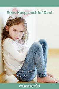 Boos Hoogsensitief Kind. Help je kind. Opvoeden doe je tussen de woede aanvallen door. HSP.